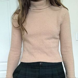 Cropped turtleneck top size S